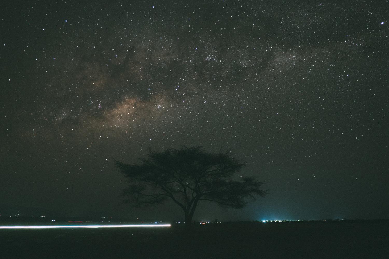 african stars with bright streak