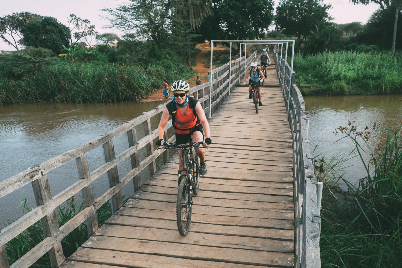 Caniglia crossing bridge