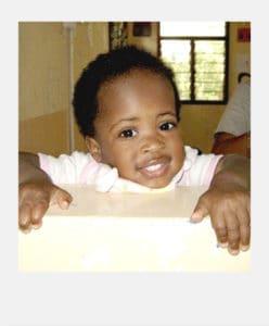 Asimwe as a child